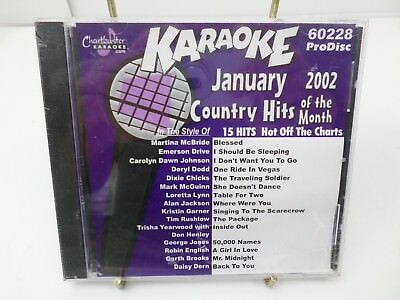 Chartbuster Karaoke  60228 January 2002 Country Hits Music CD+G player needed