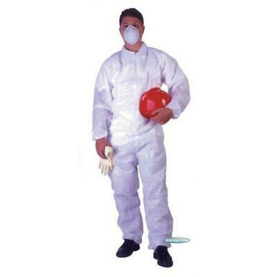 Disposable Polypropylene Coveralls 50 Pack,  UltraGuard Advantage