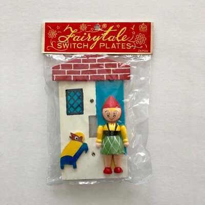 VTG Little Red Riding Hood Wood Switch Plate - Lego Imports Japan -NIP