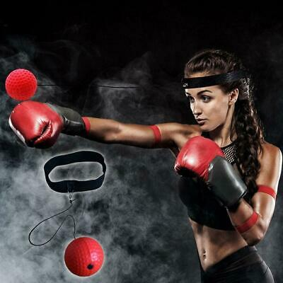 Boxing REACT Training Fight Ball ReMFex Boxer Speed Punch Head Cap String MF