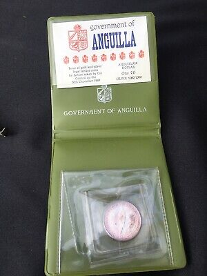 Government Of Anguilla 1967 One Dollar Coin Silver 1000/1000