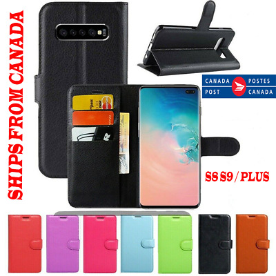 For Samsung Galaxy S9 S8 / Plus Wallet Leather Card Holder Flip Case Full Cover