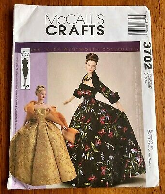 "TYLER WENTWORTH 3702 McCall's Crafts 16"" Doll Pattern UNCUT"