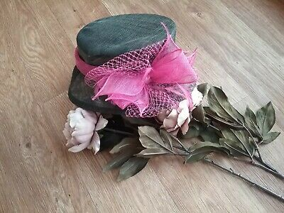 Wedding/Races Hat, Mother of the Bride, Guest, Ladies Day black pink
