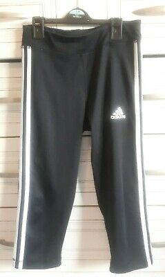 Girls Adidas cropped Climalite leggings/training joggers 13-14yrs