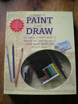 Art Supplies - Learn To Paint And Draw (guide book, paints, pencils & brushes)