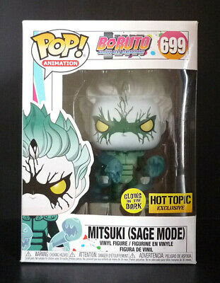 Funko Pop! Boruto Naruto Mitsuki Sage Mode GITD Hot Topic Exclusive - Mint