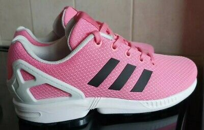 Girls Adidas Torsion ZX Flux Trainers - Uk 4 - Pink / White / Black - WORN ONCE