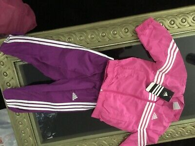 Baby pink girls tracksuit original Adidas design new with tags