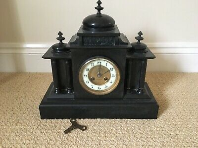 Antique Slate/Marble Mantle Clock. In good condition Pre 1900
