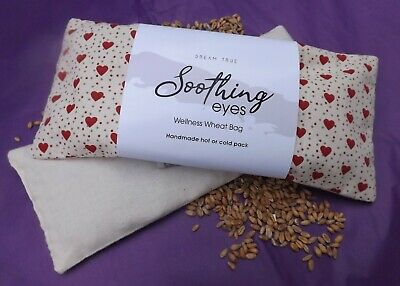 VALENTINE - Unscented Wheat Bag/Soothing Eyes-Yoga-Heat Pack Removable Cover