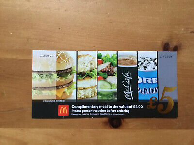 McDonald's £5 Vouchers No Expiry Date - Can Be Used At Any Store
