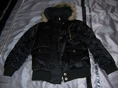 Short black jacket coat with hood girls age 9 years from Adams