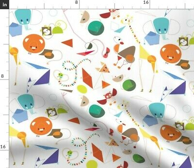Stickers Animal Color Shape Kid Child Fabric Printed by Spoonflower BTY