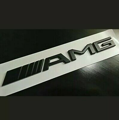Matt Black Amg Boot Badge Emblem For Mercedes Benz C Cl Clk Slk S Sl E Class