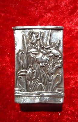 Antique Chinese Silver Matchbox Cover