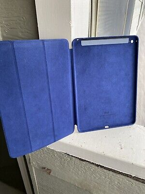 Apple Genuine Leather Blue Smart Case for iPad Air 2 OEM