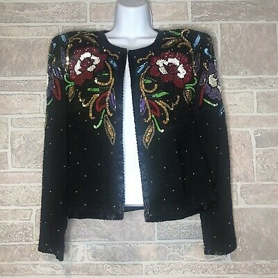 Niteline Sequined/beaded Short Jacket Size Small