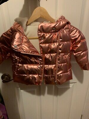 Baby Gap Toddler Jacket- 12-18 Months -Girls- Metallic Girls Winter Coat- Fleece