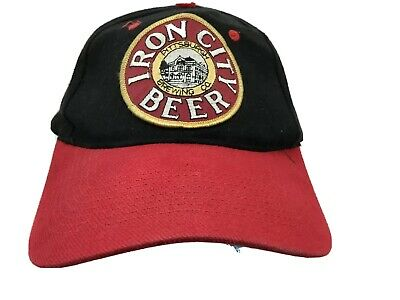 Vintage Iron City Beer Snapback Hat  Black red Pittsburgh Brewing  KC Patch