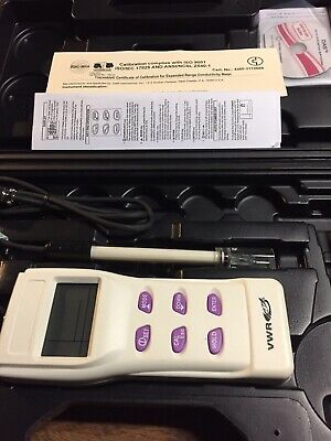 New Traceable Expanded Range Conductivity Meter Control Company/VWR With Case.