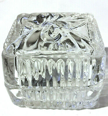 Vintage Crystal Ring Box Wedding Engagement Anniversary Gift Ribbon Bow Jewelry