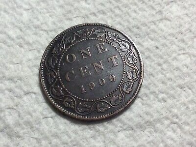 1900 no H Canada large cent VICTORIA