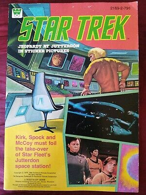 Star Trek Jeopardy At Jutterdon Sticker Book. Intact VG Condition. 1979 Whitman.
