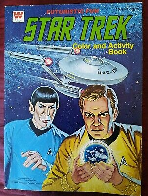 Star Trek Color and Activity Book in VG Condition. 1979 Whitman. Rare Vintage.