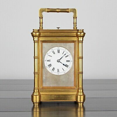 Antique c.1892 Henri Jacot Bamboo Grande Sonnerie Striking French Carriage Clock