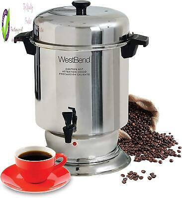 West Bend 13550 Polished Stainless Steel Commercial Coffee Urn Features Automati