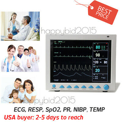6-Parameter Vital Signs ICU/CCU Patient Monitor CONTEC US STOCK SHIPPING