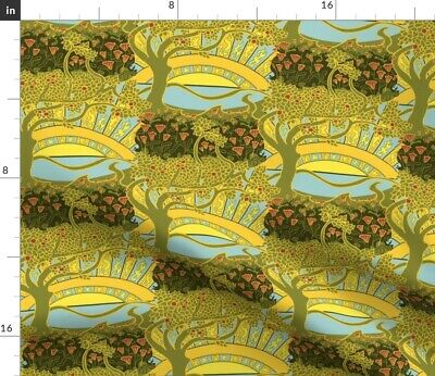 Arts And Crafts Craftsman Mission Style Art Fabric Printed by Spoonflower BTY