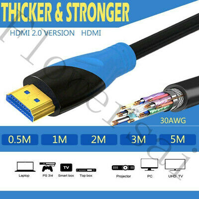 1M/3M/5M/10M HDMI Cable High Speed v2.0 HD 4K 3D ARC For PS3 PS4 XBOX ONE SKY TV