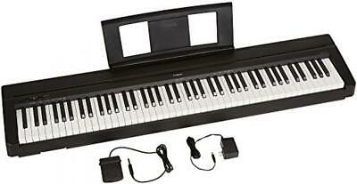 Yamaha P71 88-Key Weighted Action Digital Piano With Sustain Pedal And Black