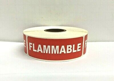 """1 ROLL FLAMMABLE Handle with Care Fragile Shipping Stickers (1""""x 3""""/100 Labels )"""