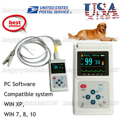 CMS60D-VET Veterinary Pulse Oximeter,Tongue SpO2 Probe,PC Software USB,