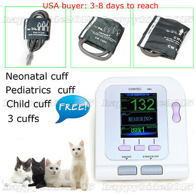 US Vet veterinary digital blood pressure monitor, 3 cuffs for animal/dog/cat