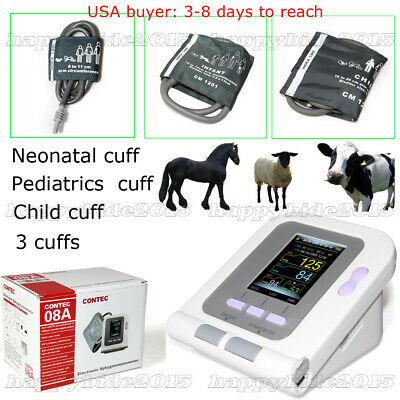 FDA Vet Veterinary Digital Blood Pressure&Heart Beat Monitor NIBP+3 CUFF
