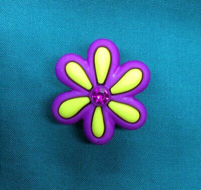 Cute Spring Purple Yellow DAISY Daisies Flower Croc Hole Accessories Shoe Charm
