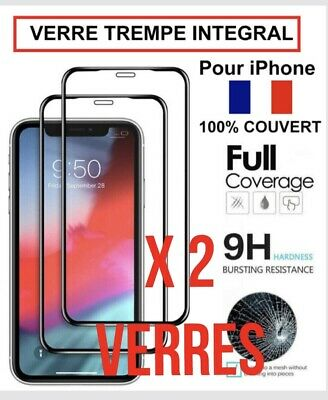 Verre Trempe Iphone Vitre Protection 11 Pro Max Se 2020  6 6S 7 8 X Xr Xs Max