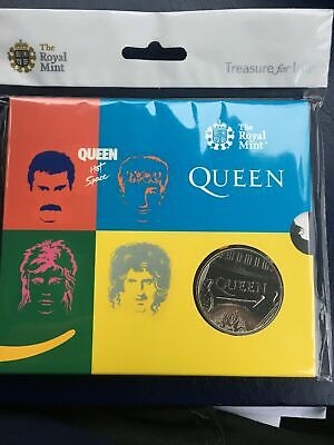 Queen band £5 Brilliant Uncirculated Coin Hot space LIMITED EDITION ROYAL MINT