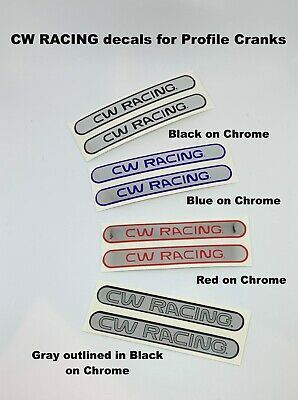 """2nd /& 3rd Generation cranks for /""""Old School/"""" 1st PROFILE CRANK Decals 1 pair"""