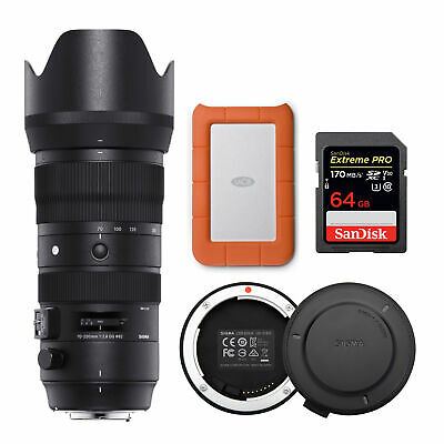 Sigma 70-200mm f/2.8 DG OS HSM Sport Lens for Canon with 1TB Hard Drive Bundle