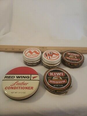 Meltonian For Shoes Vintage (2) Kiwi Vintage (2) & Red Wing Leather Condition Ti