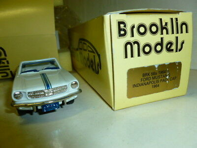 Die cast 1/43FORD MUSTANG INDIANAPOLIS PACE CAR 1964 BROOKLIN MODELS BRK56X 1/2