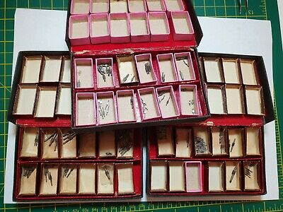 Clock parts watchmakers lot wheel pivot collection