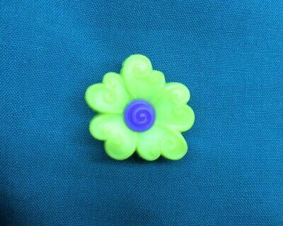 Cute Yellowish Green with Purple Middle Spring Flower Clog Shoe Charms Charm