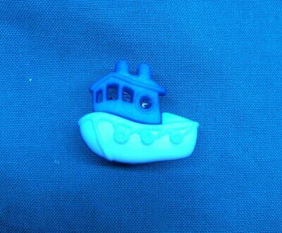 Cute Blue Tug Boat Waterways Fisherman Holey Clog Shoe Charm Charms