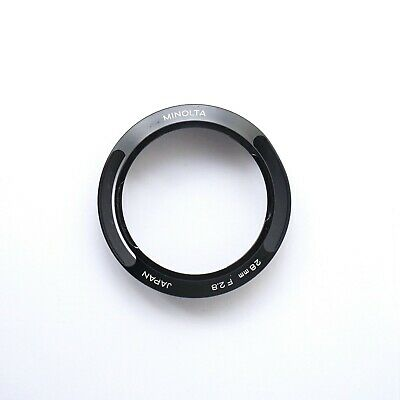 Minolta 28mm f/2.8 vented metal lens hood shade for M-ROKKOR leica CL CLE